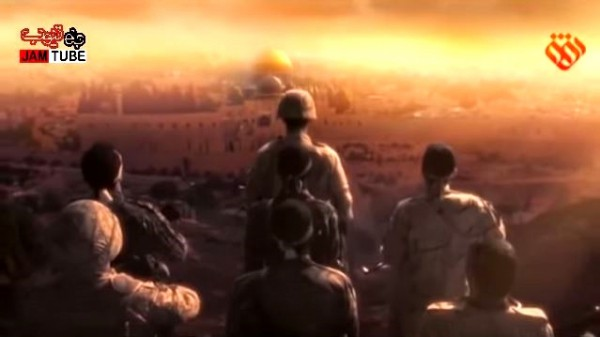 The video recently released by Iranian media shows Iran's proxies, led by its Iran Revolutionary GC, overlooking Jerusalem, preparing for battle against Israel. (YouTube capture).