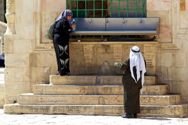 fountain-drinking water-Temple Mount-harassment of Jewish visitors