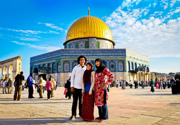 Muslim visitors-Dome of the Rock
