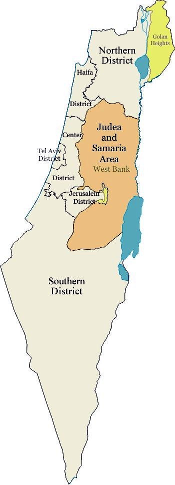 Districts of Israel map