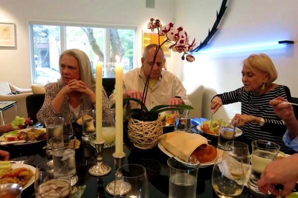 Erev Shabbat-candles-dinner