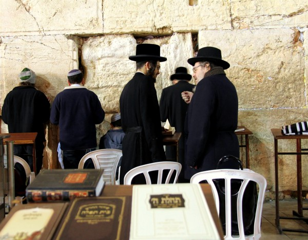 conversation-discussion-Jewish prayer-Kotel-siddurim
