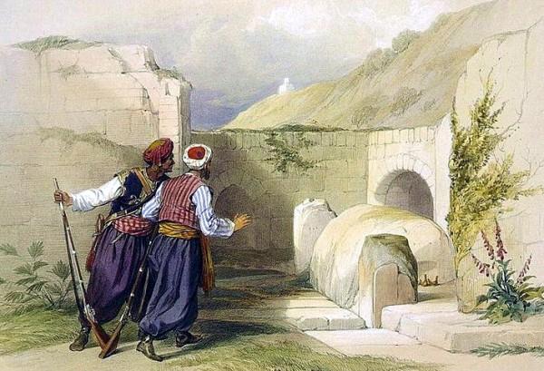Tomb of Joseph at Shechem (1839), by David Roberts