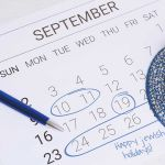 September 2018 Jewish holiday calendar