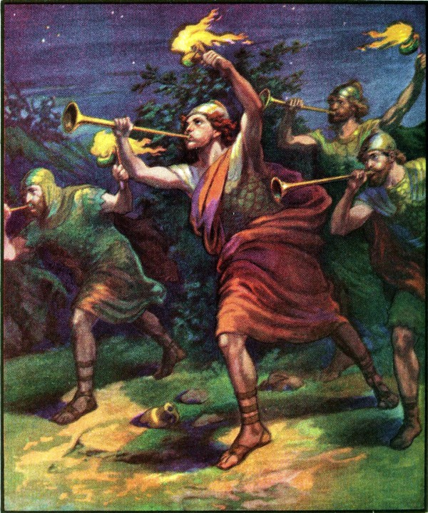 Gideon and the Trumpets (1919 Bible Primer)