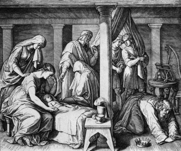 Child of David and Bathsheba, by Julius Schnorr von Carolsfeld