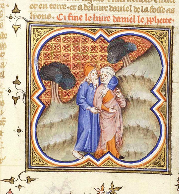 Hosea and Gomer (Bible Historiale, 1372)