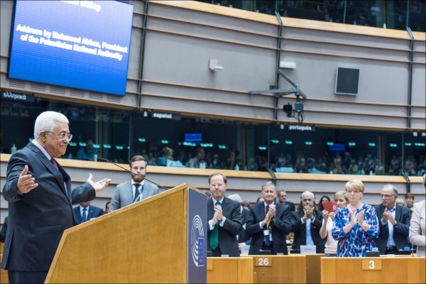 Mahmoud Abbas gives his address to the EU Parliament.  (© European Union 2016 - European Parliament)