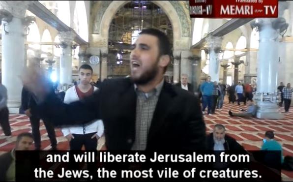 Temple Mount, al-Aqsa Mosqu, hate speech, incitement