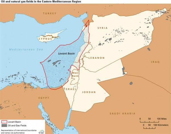 Levant Basin, Israel oil fields