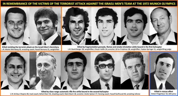 1972 Israel Olympic Men's Team terror victims