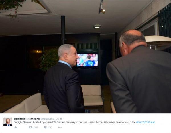 UEFA Euro 2016, Benjamin Netanyahu, Sameh Shoukry,