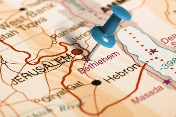 Bethlehem is six miles south of Jerusalem.