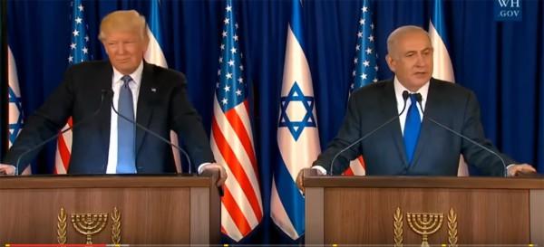 President Donald Trump, Benjamin Netanyahu, press conference May 22, 2017, Jerusalem