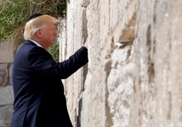 Trump visits Western Wall, May 22, 2017