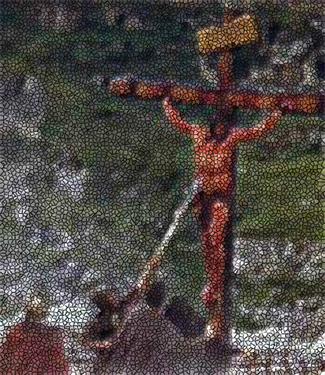Jesus is pierced