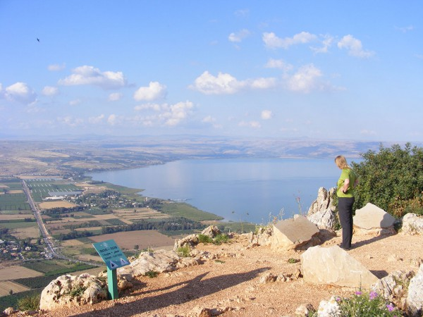Mount Arbel, view of Sea of Galilee