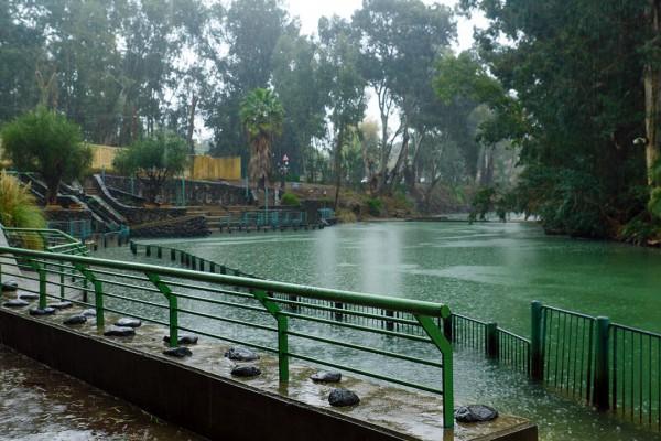 Yardenit, baptismal site Israel