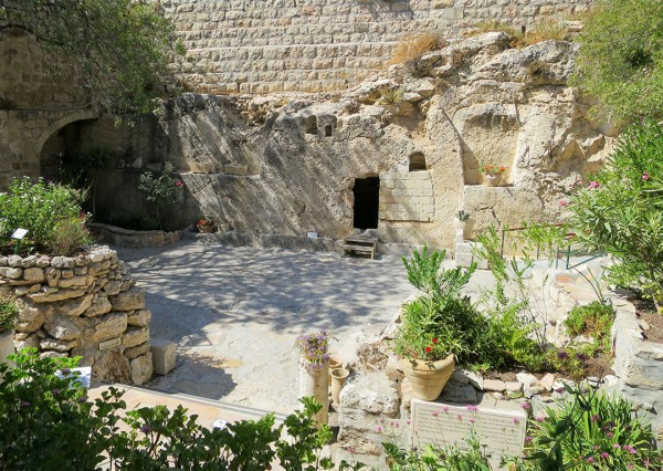 The Garden Tomb: This ancient tomb just outside Damascus Gate at the Old City of Jerusalem had been hewn out of the rock surrounding it and is thought by some to be the tomb where Yeshua was laid to rest and from where He resurrected.  <em>(See Mark 15:42–16:8; Isaiah 53:9.).</em>