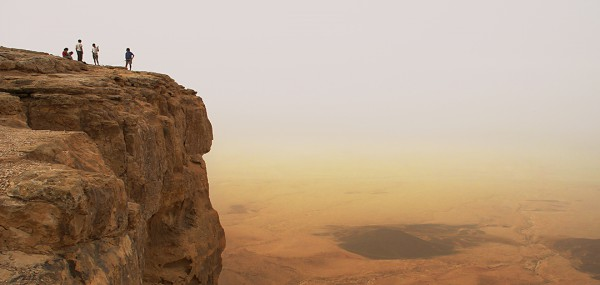 Cliff over Ramon Crater in Negev