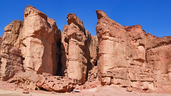 Solomon's Pillars at Timna Park in Israel's Negev