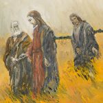 Yeshua and His Disciples in a Meadow oil painting