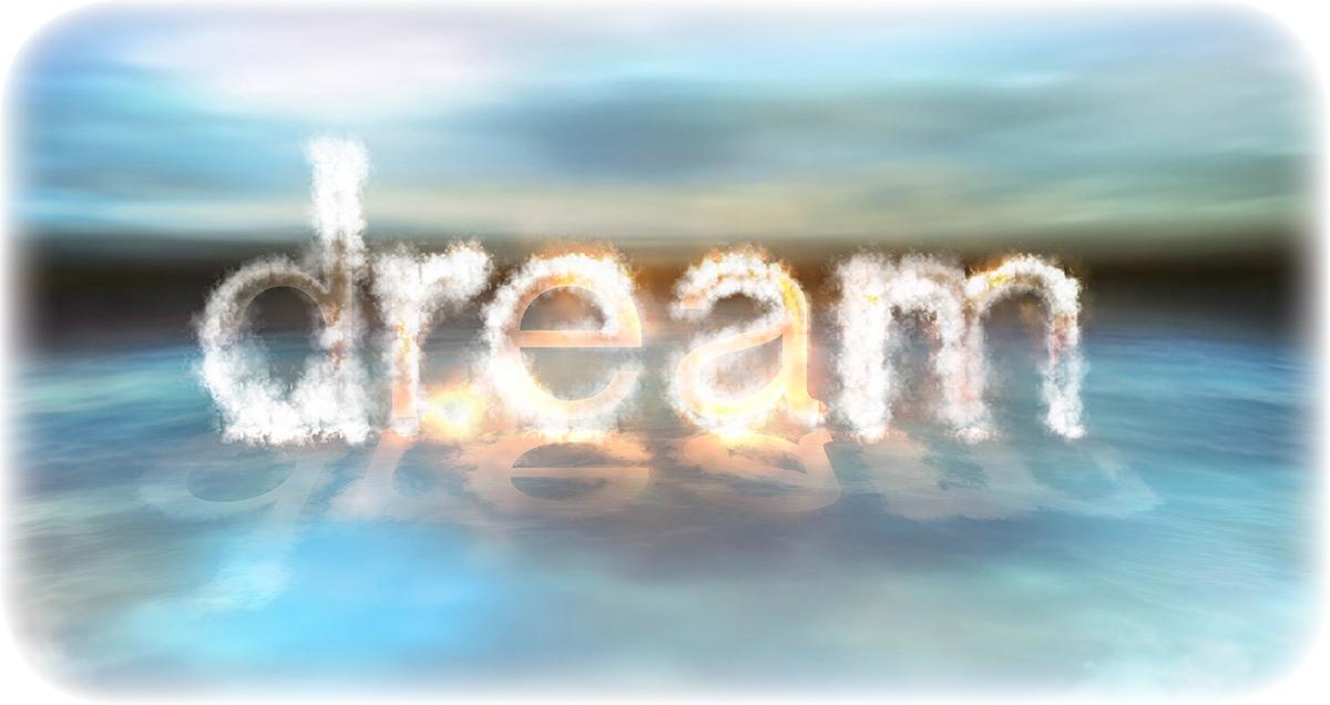 dream illustrated word