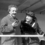 Albert Einsten and his wife Elsa