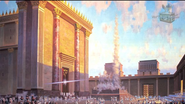 Third Temple 3D mockup developed by the Temple Institute in Jerusalem