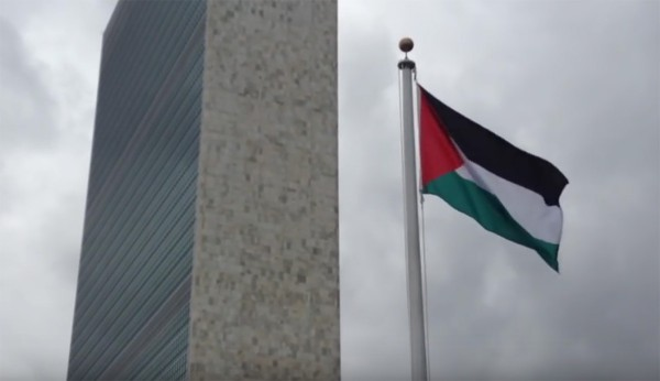 State of Palestine flag, United Nations
