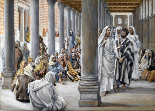 Yeshua (Jesus) Walks in the Portico of Solomon_ James Tissot