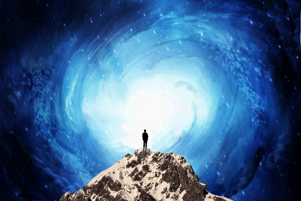 man standing on rock lookingn at universe, Psalm 8:3-9