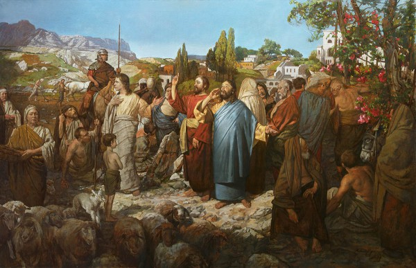 Parable of the Wedding Feast, by A.N. Mironov depicts the call to the common people to attend the king's wedding banquet.