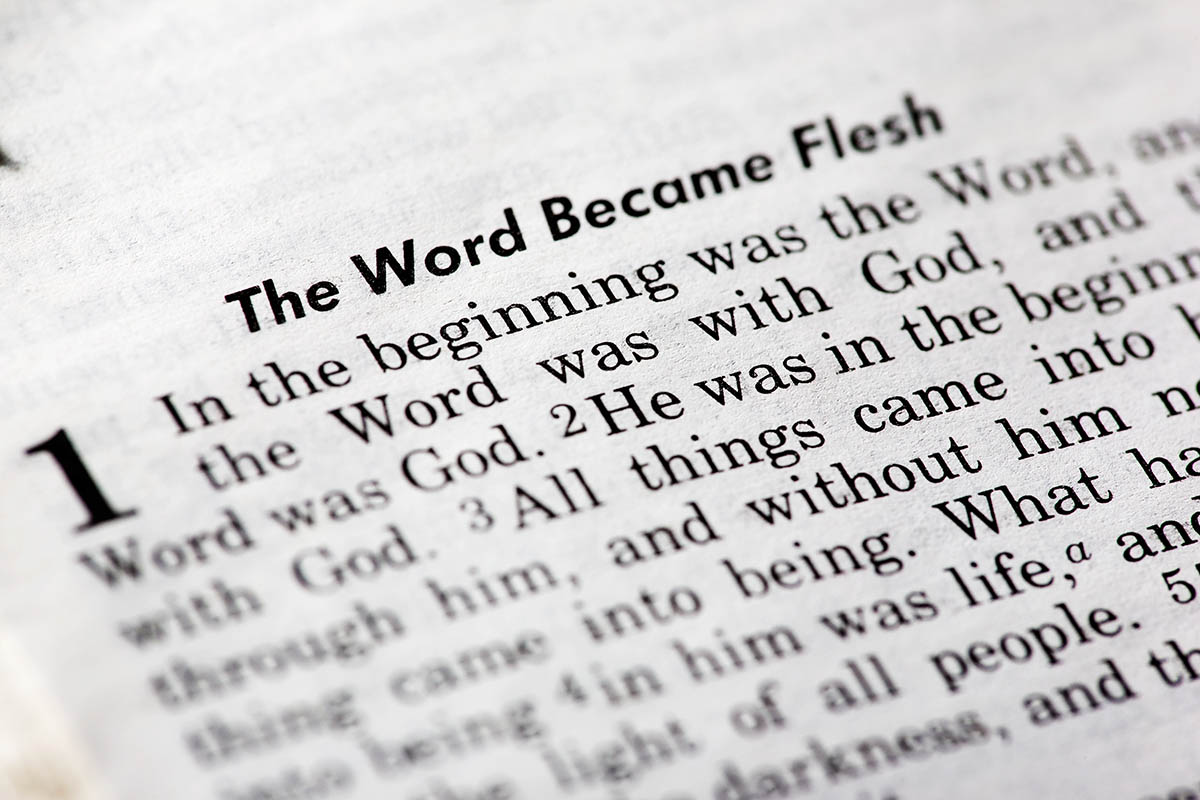 image of John 1:1 - In the beginning was the word ...