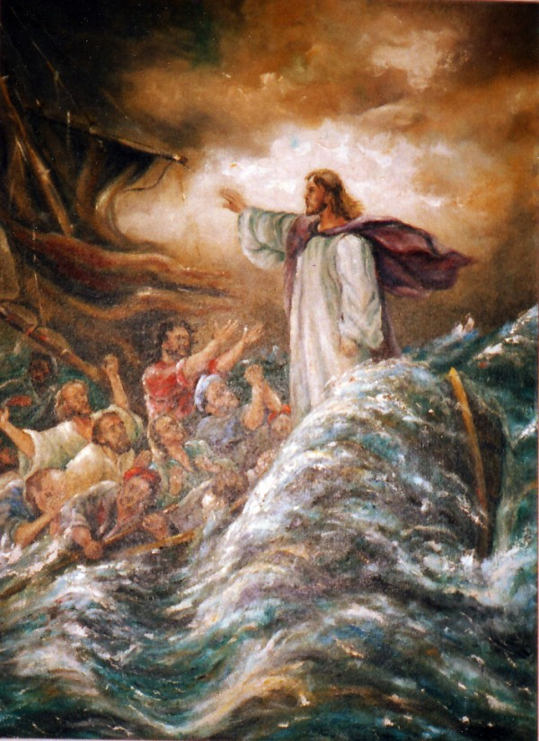 Yeshua with His Disciples on the Sea of Galilee, by Ernst Georg Bartsch (Wikicommons, GNU free license)
