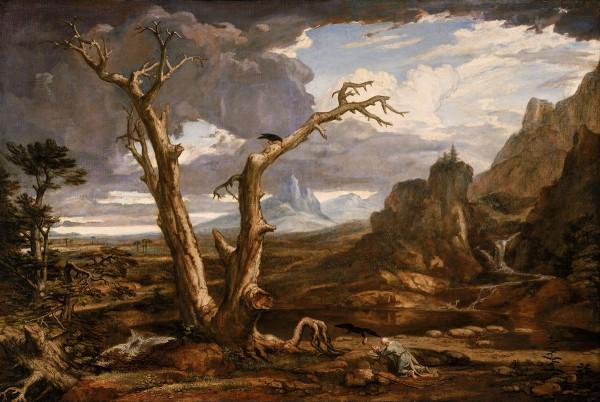 Elijah in the wilderness (1817), by Washington Allston