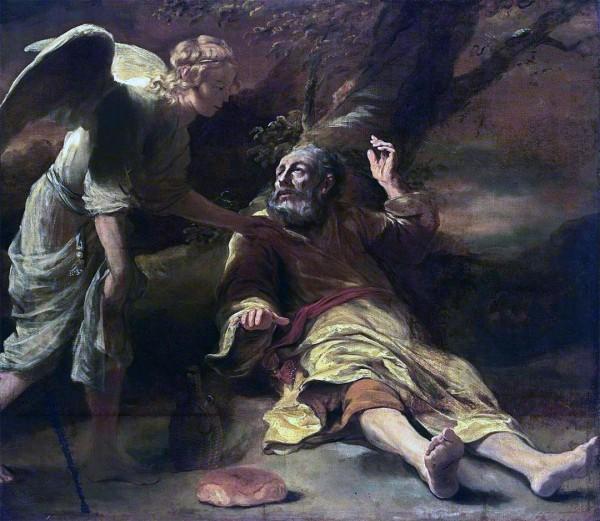 Elijah Fed by an Angel (c. 1660), Ferdinand Bol