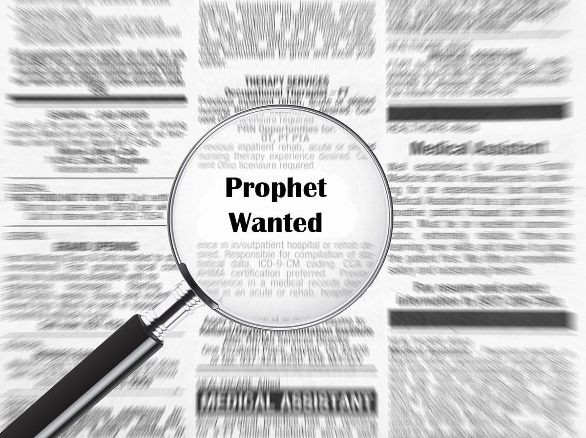 prophet wanted headline in newspaper