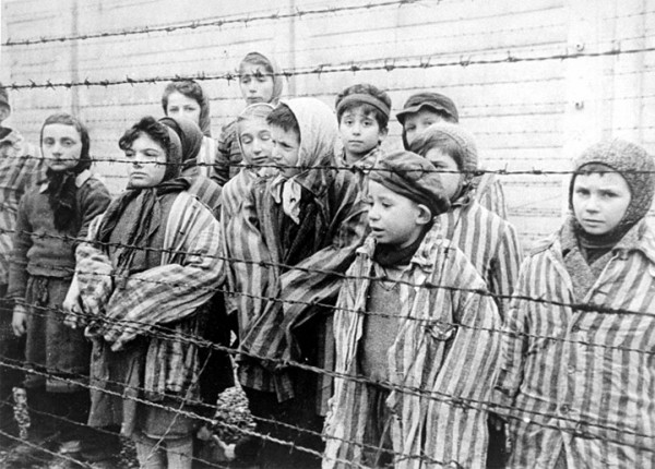 These children were liberated from Auschwitz by the Red Army in January 1945.