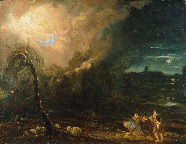 The Angel Appearing to the Shepherds (1831), by Thomas Cole depicts the Shekhinah Glory that accompanied the angel as he announced the birth of the Savior, Yeshua to the shepherds (Luke 2:9).