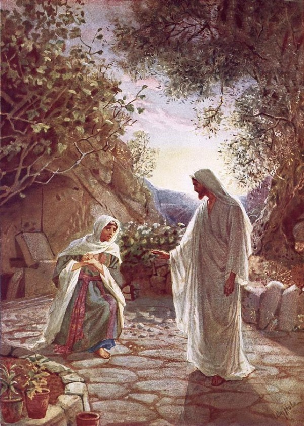Yeshua and Mary, by William Hole