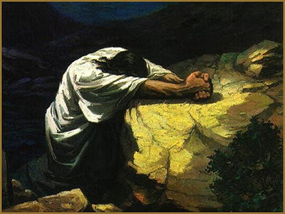 Yeshua Prays in the Garden of Gethsemane (Flickr, by Waiting for the Word lic.  cc by 2.0)