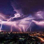 lightning, city