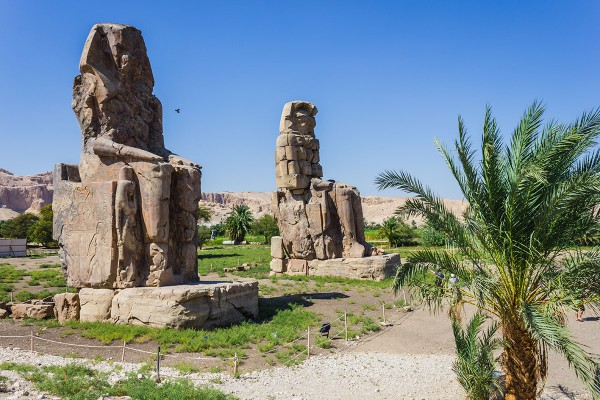 Pharaoh Amenhotep statues, Luxor Egypt